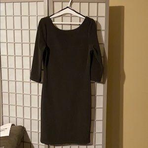 Le Chateau Ottoman Rib Knit Dress